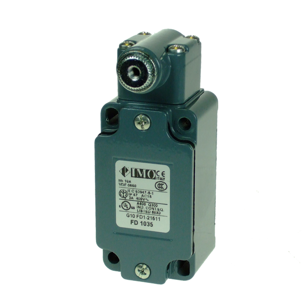 FD1035 Limit Switch, Standard Adjustable Roller lever 2NO Metal Body 1 x PG13.5 Entry