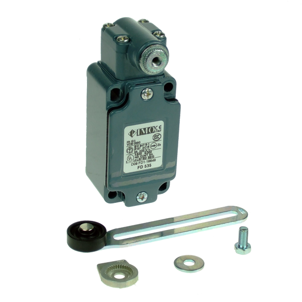 FD2035 Limit Switch, Standard Adjustable Roller Lever NO+2NC Slow Action BBM Metal Body 1 x PG13.5 Entry