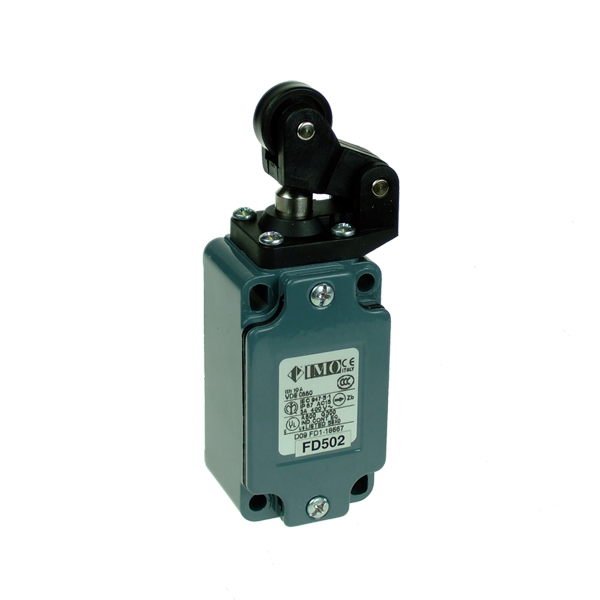 FD502 Limit Switch, Standard One Way Roller Top Actuation NO+NC Snap Action Metal Body 1 x PG13.5 Entry