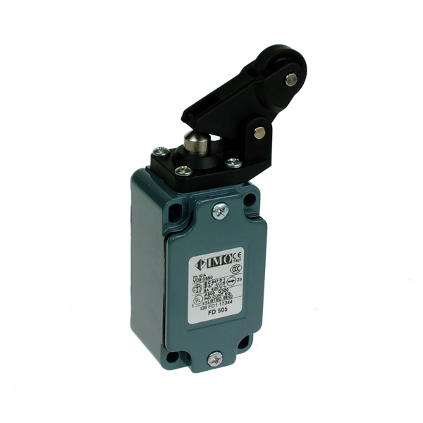 FD505 Limit Switch, Standard One Way Roller Side Actuation NO+NC Snap Action Metal Body 1 x PG13.5 Entry