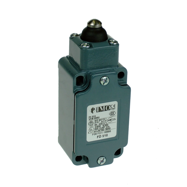 FD510 Limit Switch, Standard Sealed Piston Plunger NO+NC Snap Action Metal Body 1 x PG13.5 Entry