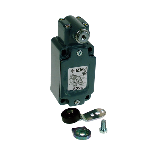 FD531 Limit Switch, Standard Roller Lever With Offset NO+NC Snap Action Metal Body 1 x PG13.5 Entry