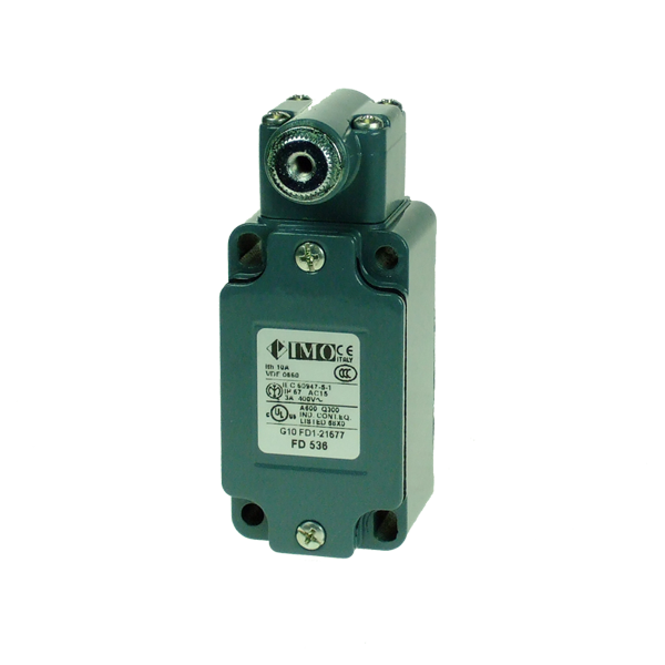 FD536 Limit Switch, Standard Glass Fibre Rod 6x200mm NO+NC Snap Action Metal Body 1 x PG13.5 Entry