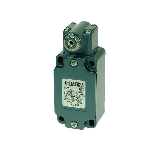 FD538 Limit Switch, Standard Lever Type Long Neck Head NO+NC Snap Action Metal Body 1 x PG13.5 Entry