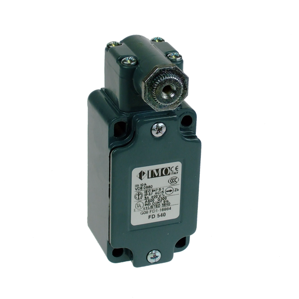 FD540 Limit Switch, Standard Two Stable Positions, No Lever NO NC Snap Action Metal Body 1 x PG13.5 Entry