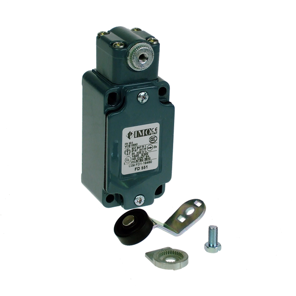 FD551 Limit Switch, Standard Roller Lever Large Offset NO+NC Snap Action Metal Body 1 x PG13.5 Entry