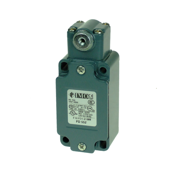 FD552 Limit Switch, Standard Roller Lever NO+NC Snap Action Metal Body 1 x PG13.5 Entry
