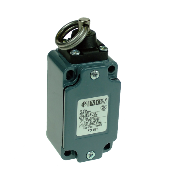 FD576 Limit Switch, Standard Rope Operated NO+NC Snap Action Metal Body 1 x PG13.5 Entry