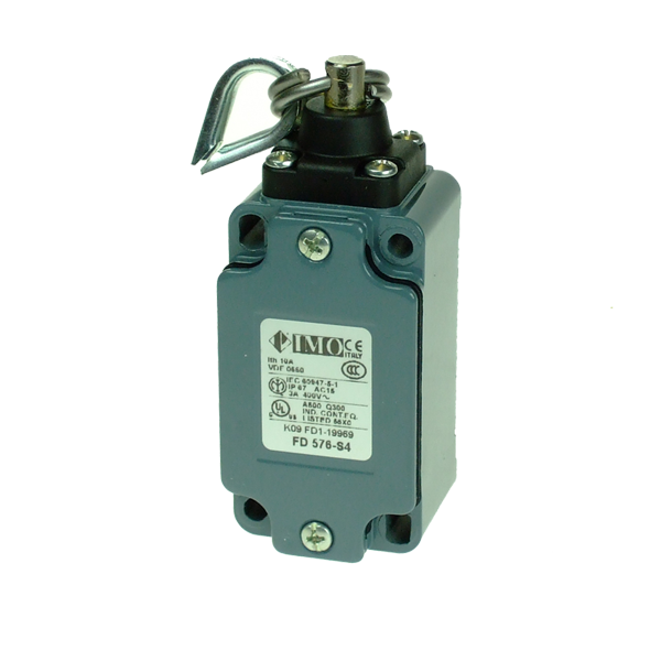 FD576-S4 Limit Switch, Standard Rope Operated, Special NO+NC Snap Action Metal Body 1 x PG13.5 Entry