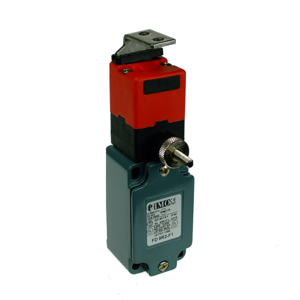 FD9R2-F1 Limit Switch, Standard Door Interlock 90 Deg., Act. 2NC With Delayed Release Metal Body 1 x PG13.5 Entry