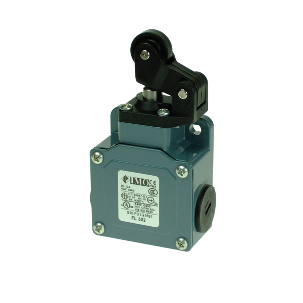 FL502 Limit Switch, Standard One Way Roller Top Actuation NO+NC Snap Action Metal Body 3 x PG13.5 Entry