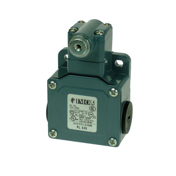 FL535 Limit Switch, Standard Adjustable Roller Lever NO+NC Snap Action Metal Body 3 x PG13.5 Entry