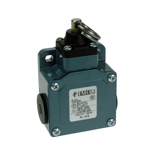 FL576 Limit Switch, Standard Rope Operated NO+NC Snap Action Metal Body 3 x PG13.5 Entry
