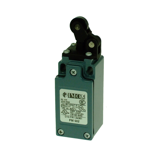 FM502 Limit Switch, Compact One Way Roller Top Actuation NO+NC Snap Action Metal Body 1 x PG13.5 Entry