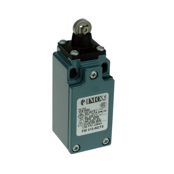 FM515-M2T6 Limit Switch, Compact Roller Piston Plunger,-40Deg C NO+NC Snap Action Metal Body 1 x M20 Entry