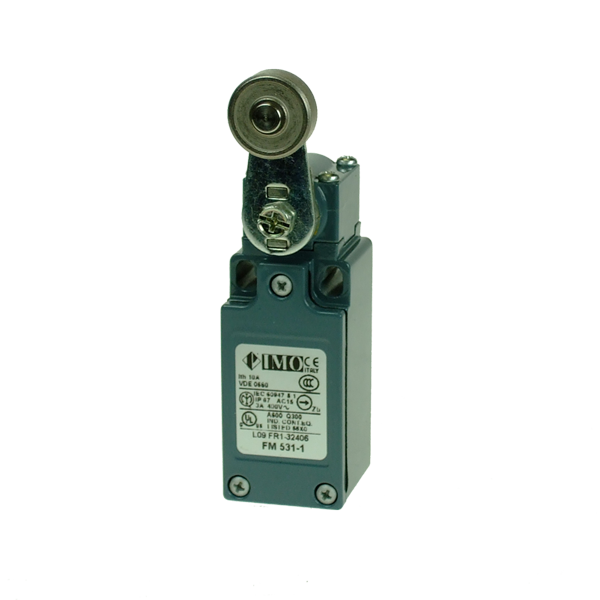 FM531-1 Limit Switch, Compact Steel Roller Lever NO+NC Snap Action Metal Body 1 x PG13.5 Entry