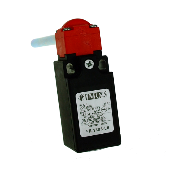 FR1896-L6 Limit Switch, Compact Plastic Body, Hinge Operated With 60mm Solid Shaft NO NC (Similar to FR695-6)