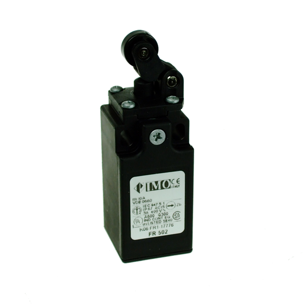 FR202 Limit Switch, Compact One Way Roller Top Actuation 2NO+2NC Snap Action Plastic Body 1 x PG13.5 Entry