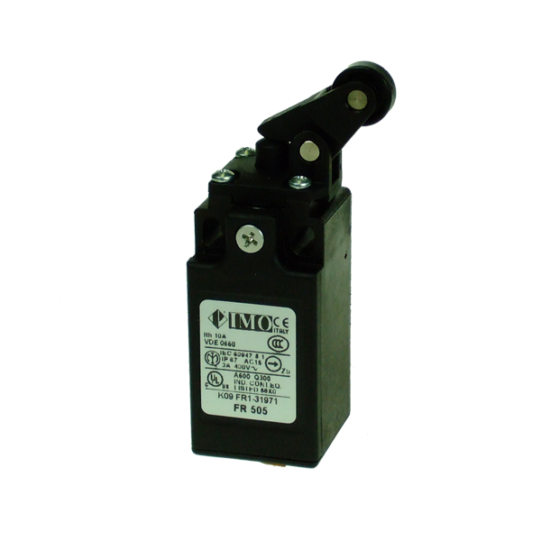 FR505 Limit Switch, Compact One Way Roller Side Actuation NO+NC Snap Action Plastic Body 1 x PG13.5 Entry