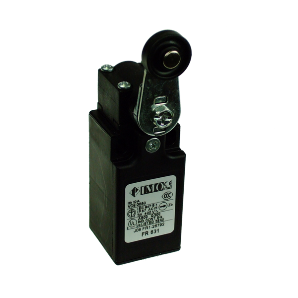 FR631 Limit Switch, Compact Roller Lever NO+NC Slow Action BBM Plastic Body 1 x PG13.5 Entry