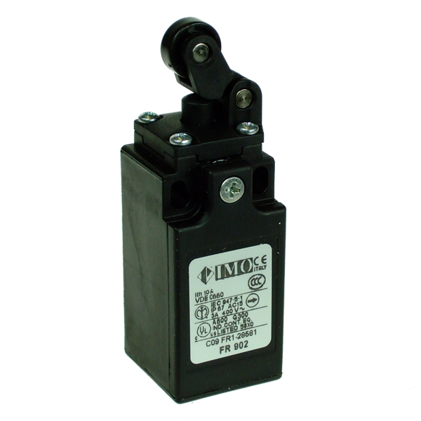 FR902 Limit Switch, Compact One Way Roller Top Actuation 2NC Plastic Body 1 x PG13.5 Entry