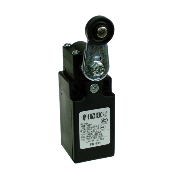 FR931 Limit Switch, Compact Roller Lever 2NC Plastic Body 1 x PG13.5 Entry