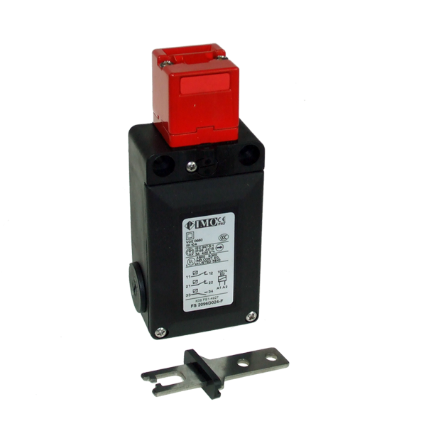 FS2096D024-F Safety Door Interlock Solenoid Operated, Flat Act. NO+2NC, On To Release, 24VAC Plastic Body 3 x PG13.5 Entry