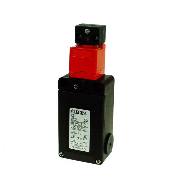 FS2096D024-F3 Safety Door Interlock Solenoid Operated, Adj, Act. NO+2NC, On To Release, 24VAC Plastic Body 3 x PG13.5 Entry