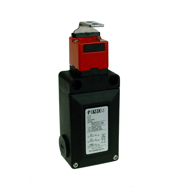 FS2996E230-F1 Safety Door Interlock, 230VAC Solenoid Operated,90 Deg, Act. NC Sol, 2NC Act,Off To Release Plastic Body 3 x PG13.5 Entry