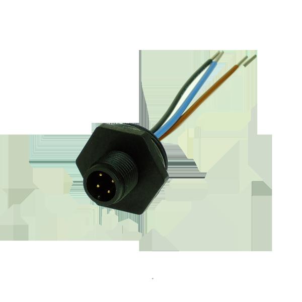 VFCNP4PM Limit Switch Accessory Adaptor PG13.5 to M12 Plug 4 Pole Male Plastic Body