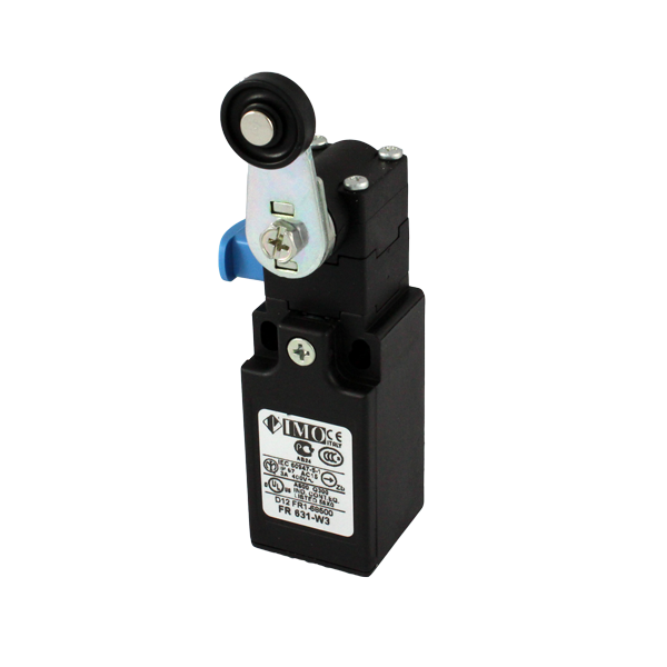 FR631-W3 Limit Switch, Compact Roller Lever + Reset Snap Action NO+NC Plastic Body 1 x PG13.5 Entry