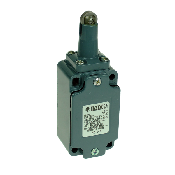 FD1116 Limit Switch, Standard Roller Piston Plunger 2NC, Staggered Metal Body 1 x PG13.5 Entry