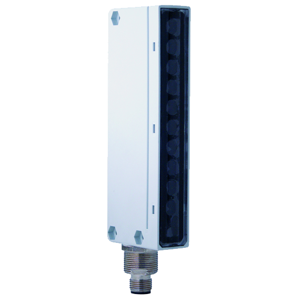BX80S/10-0H Photo-Electric Area Sensor Through-Beam Emitter, M12 Plug DC Sn=2m. Resolution 6mm PBT + 30% FV Body, PC Lens