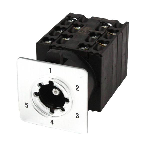 CS20A-ST52 Cam Switch 2 Pole 5 Position 20Amp, Step, With Legend Plate