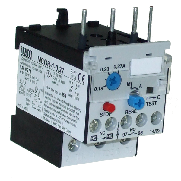 MCOR-1-0.27 Thermal Overload Relay For MC10 To MC22 Contactors 0.18 To 0.27 Amps