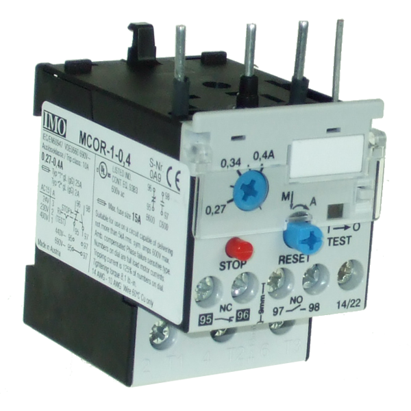 MCOR-1-0.4 Thermal Overload Relay For MC10 To MC22 Contactors 0.27 To 0.4 Amps