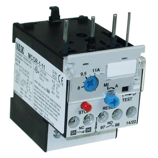 MCOR-1-11 Thermal Overload Relay For MC10 To MC22 Contactors 8 To 11 Amps