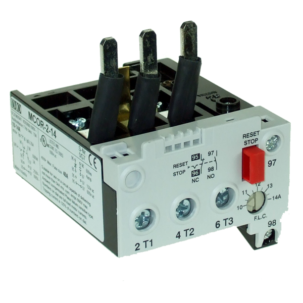 MCOR-2-20 Thermal Overload Relay For MC24 To MC40 Contactors 14 To 20 Amps / 24 To 35 Amp YD