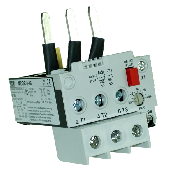 MCOR-3-28 Thermal Overload Relay For MC50 To MC74 Contactors 20 To 28 Amps D.O.L 35 To 48 Amps YD