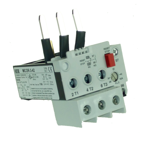MCOR-3-42 Thermal Overload Relay For MC50 To MC74 Contactors 28 To 42 Amps D.O.L 48 To 73 Amps YD