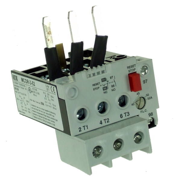 MCOR-3-52 Thermal Overload Relay For MC50 To MC74 Contactors 40 To 52 Amps D.O.L 70 To 90 Amps YD