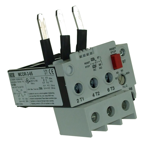 MCOR-3-65 Thermal Overload Relay For MC50 To MC74 Contactors 52 To 65 Amps D.O.L 104 To 156 Amps YD