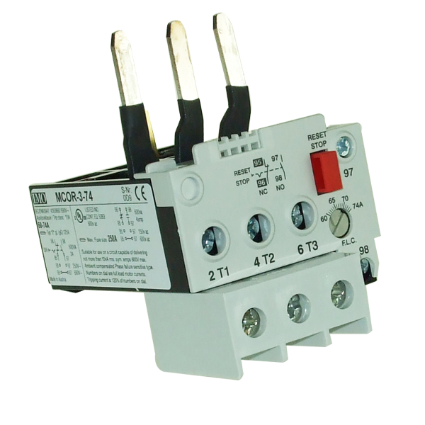 MCOR-3-74 Thermal Overload Relay For MC50 To MC74 Contactors 60 To 74 Amps